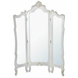 185cm x 140cm Provence Mirror 3 Panel Room Divider