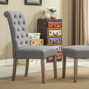 sabanc solid wood button tufted side chair set of 2. Interior Design Ideas. Home Design Ideas