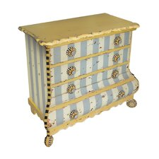 Pinwheel 4 Drawer Accent Chest by Sterling Industries