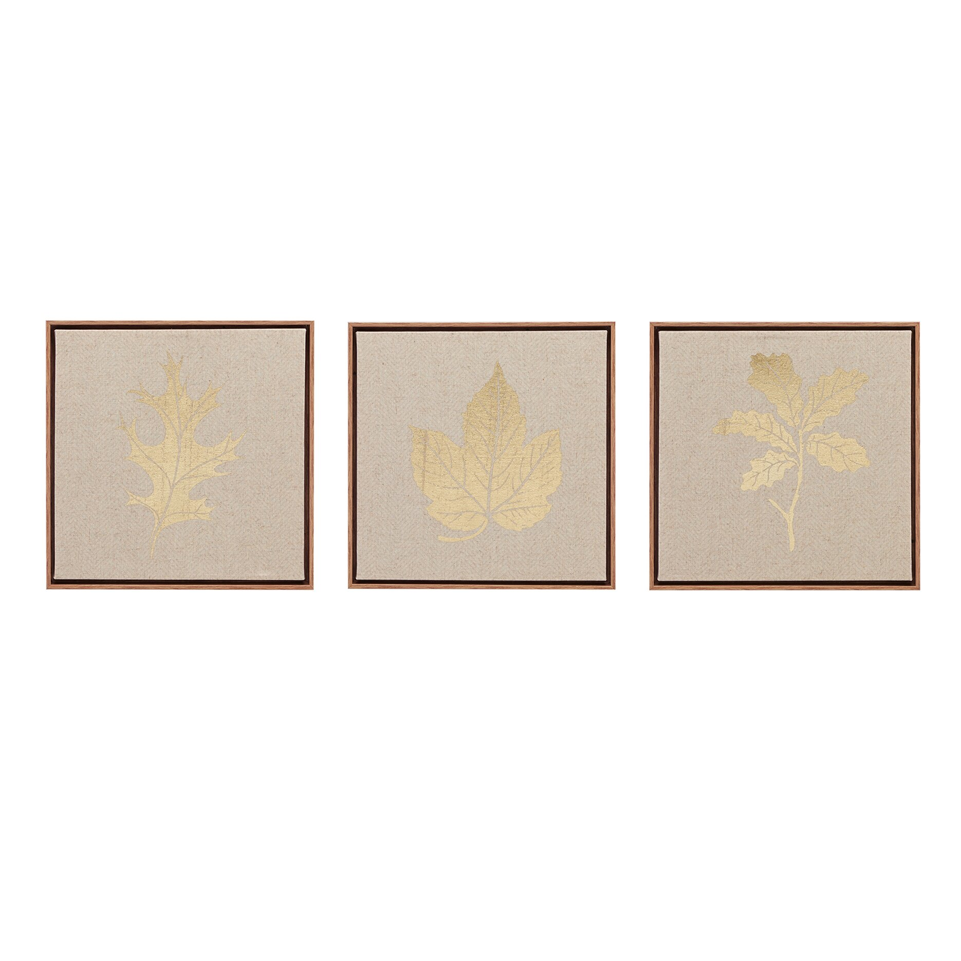Gracie oaks 39golden harvest39 3 piece framed graphic art on for Kitchen cabinets lowes with three piece canvas wall art