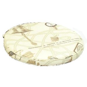 Round Outdoor Dining Chair Cushion (Set of 2)
