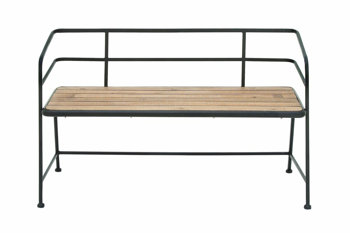 modern storage benches  allmodern - idell metal and wood entryway bench