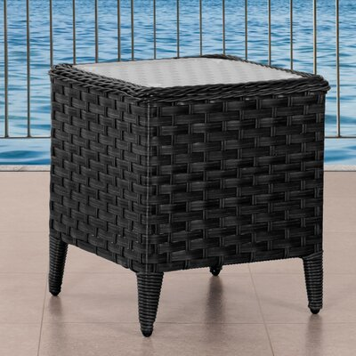 Deadra Glass Side Table by Highland Dunes Great price