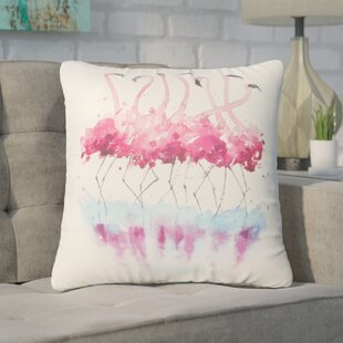 Piotrowski Flamingo Throw Pillow