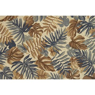 Monadnock Hand-Hooked Camel/Gray Indoor/Outdoor Area Rug
