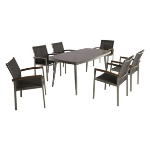 Ivy Bronx Bonifacio Outdoor 7 Piece Dining Set