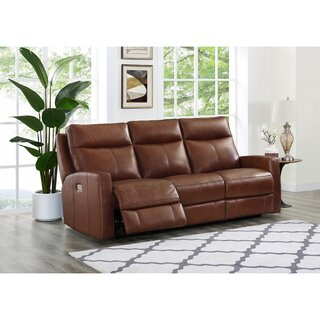 Amasia Leather Reclining Sofa by Winston Porter SKU:BA519430 Description