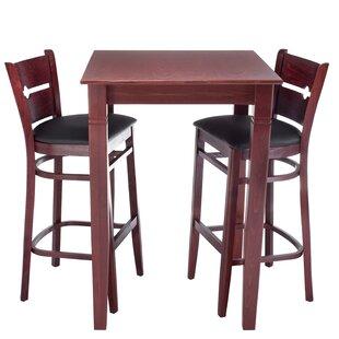 Gottesdiener 3 Piece Pub Table Set by Red Barrel Studio