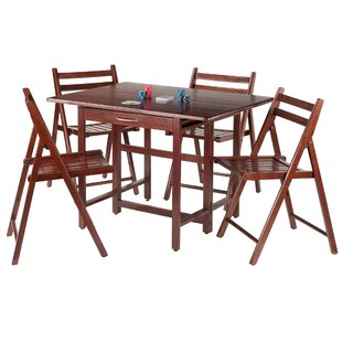 Culley 5 Piece Drop Leaf Dining Set Red Barrel Studio