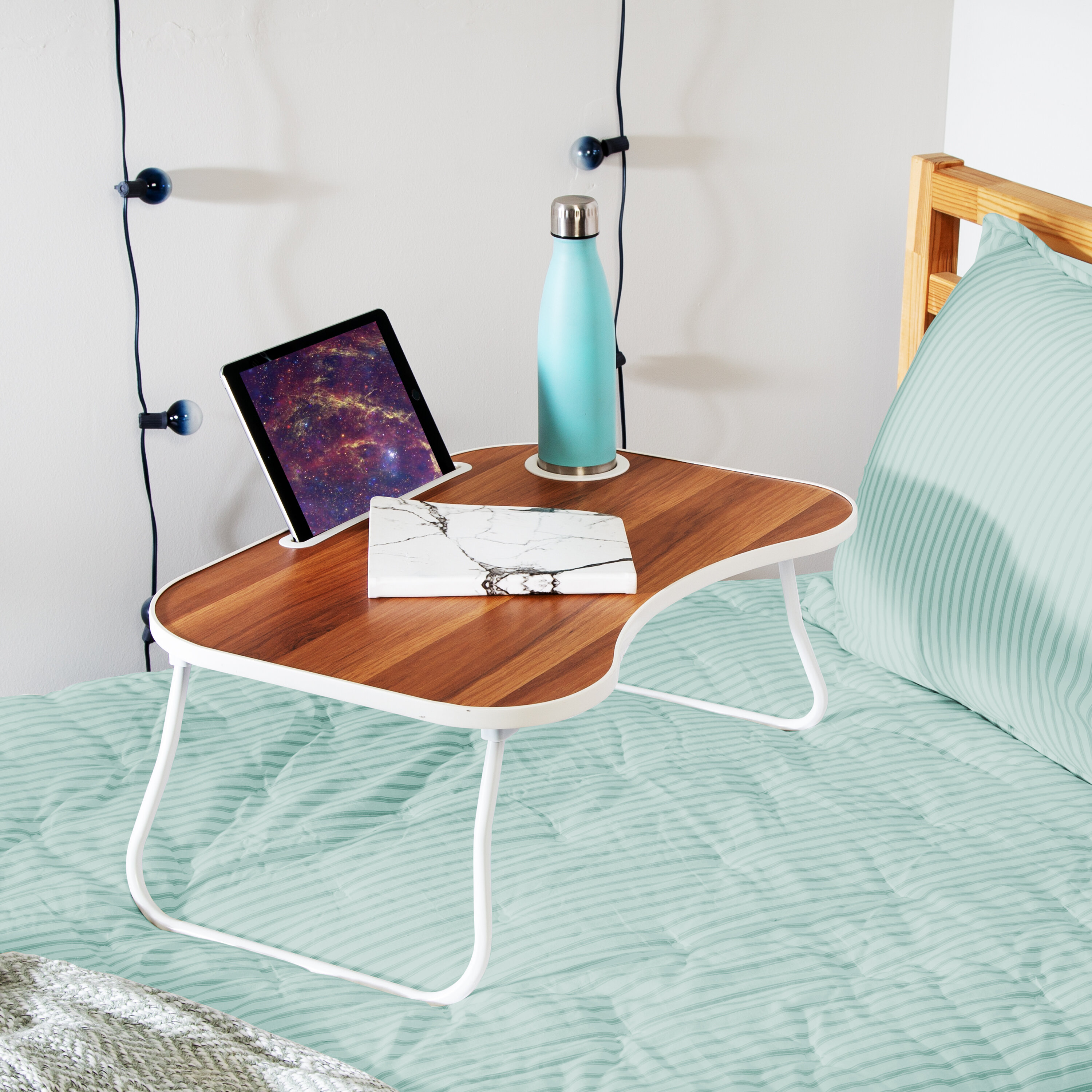 Picture of: Symple Stuff Retta Collapsible Folding Lap Tray Table Reviews Wayfair