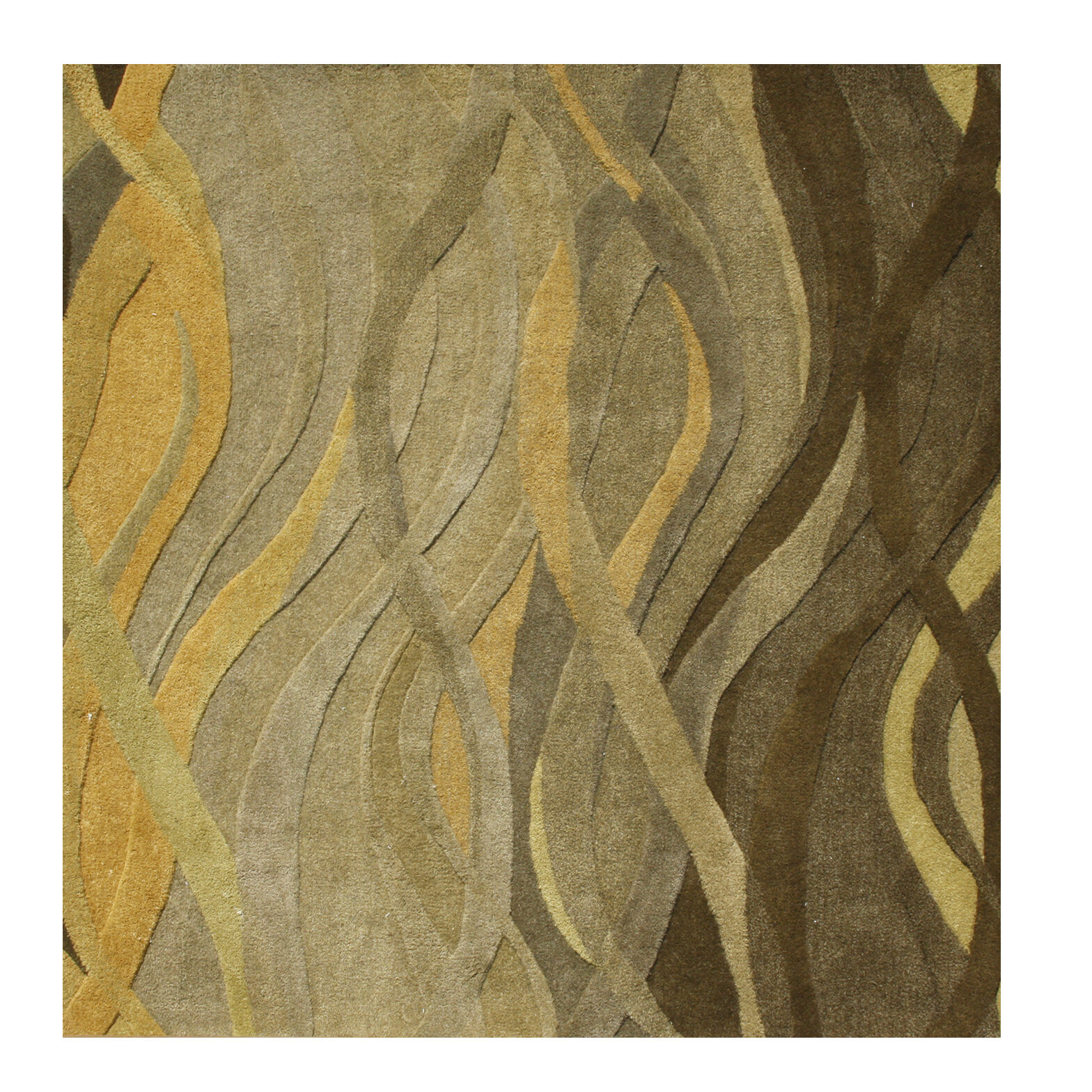Alliyah Rugs New Zealand Hand Tufted Wool Green Beige Area Rug Reviews Wayfair