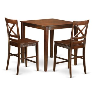 Given 3 Piece Counter Height Pub Table Set Charlton Home
