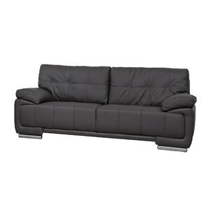 Verena Genuine Leather 3 Seater Sofa By Ebern Designs
