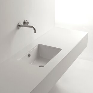 Look for Whitestone Ceramic Rectangular Undermount Bathroom Sink with Overflow By WS Bath Collections
