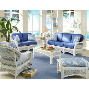 Spice Islands Wicker Regatta Living Room Set