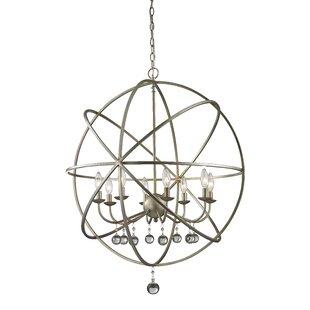 Reviews Leonora 8-Light Globe Chandelier By Rosdorf Park