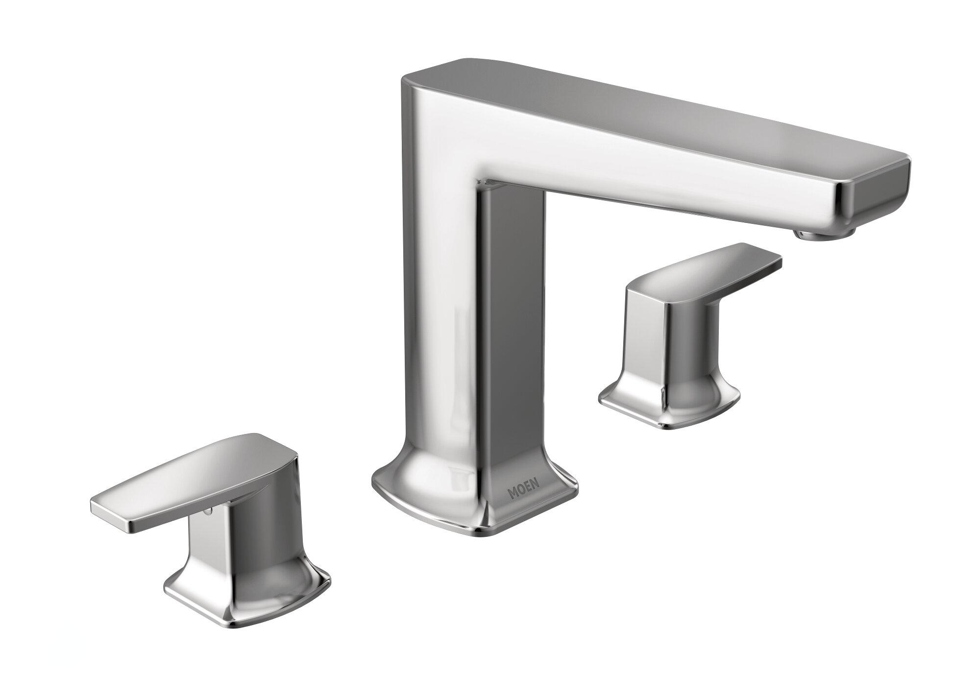 Via 2 Handle Deck Mounted Roman Tub Faucet Trim