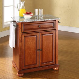 Pottstown Kitchen Cart with Granite Top by Darby Home Co