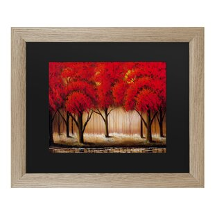 1a5556946c7  Parade of Red Trees II  Framed Acrylic Painting Print on Canvas. by  Winston Porter