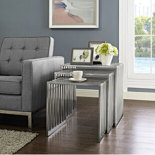 Read Reviews Duct 3 Piece Nesting Tables By Modway