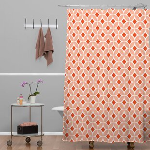 Brassfield Persimmon Single Shower Curtain