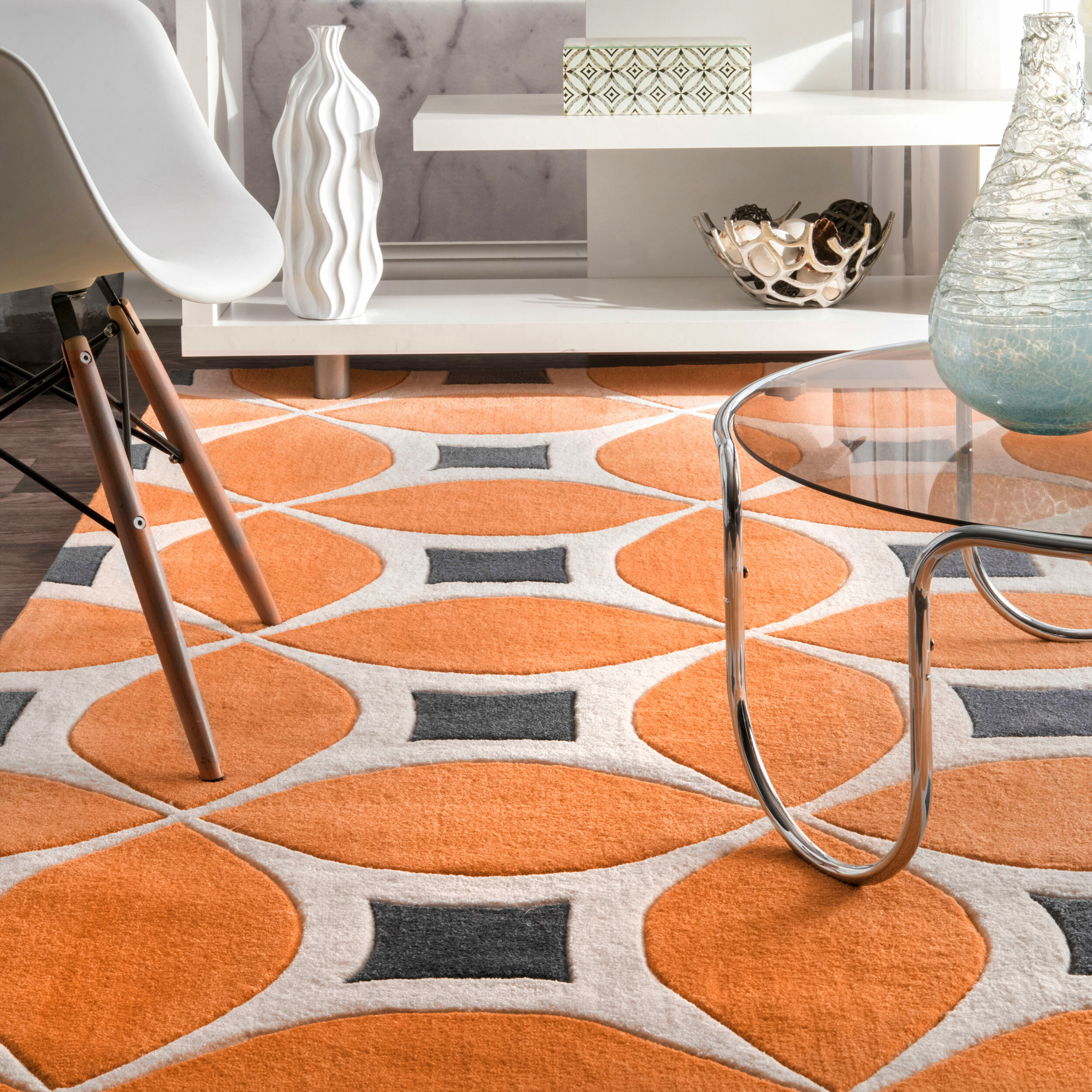 Sorrento Power Loom Orange Rug Reviews Allmodern