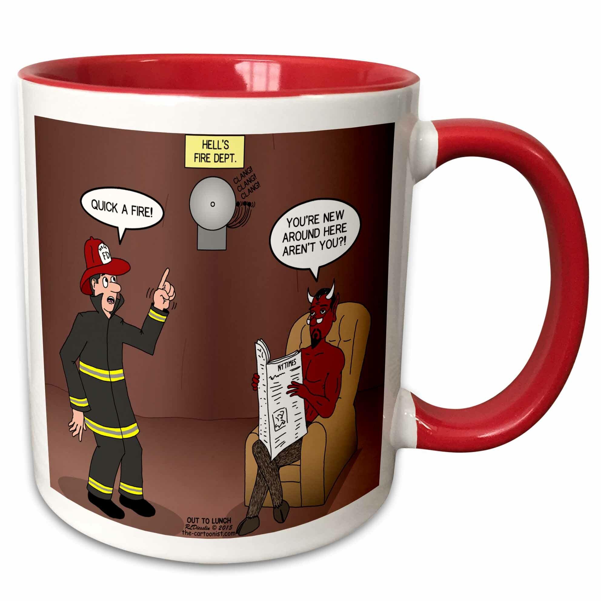 Symple Stuff Rowen Hells Fire Department Coffee Mug Wayfair