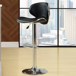 Bendale Adjustable Height Swivel Bar Stool by Orren Ellis