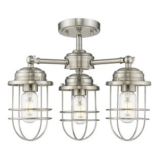 Kaeden 3-Light Semi-Flush Mount by Gracie Oaks