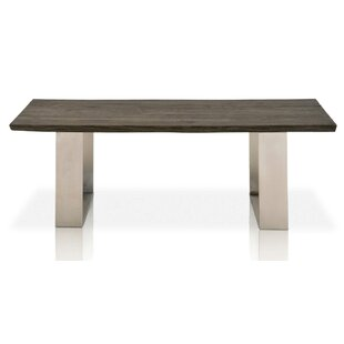 Deandre Rustic Oak Wood Coffee Table by Foundry Select