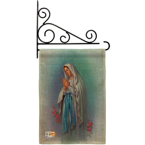 Breeze Decor Our Lady Of Grace Inspirational 2 Sided Burlap 19 X 13 In Garden Flag Wayfair