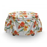 Nasturtium Flowers Ottoman Slipcover (Set of 2) by East Urban Home