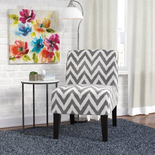Janae Chevron Slipper Chair