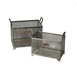 2 Piece Iron Storage Basket Set By Gracie Oaks