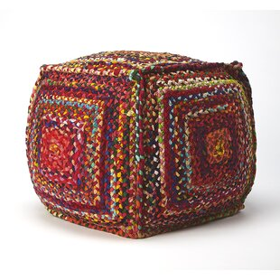Sharen Braided Pouf by Bungalow Rose