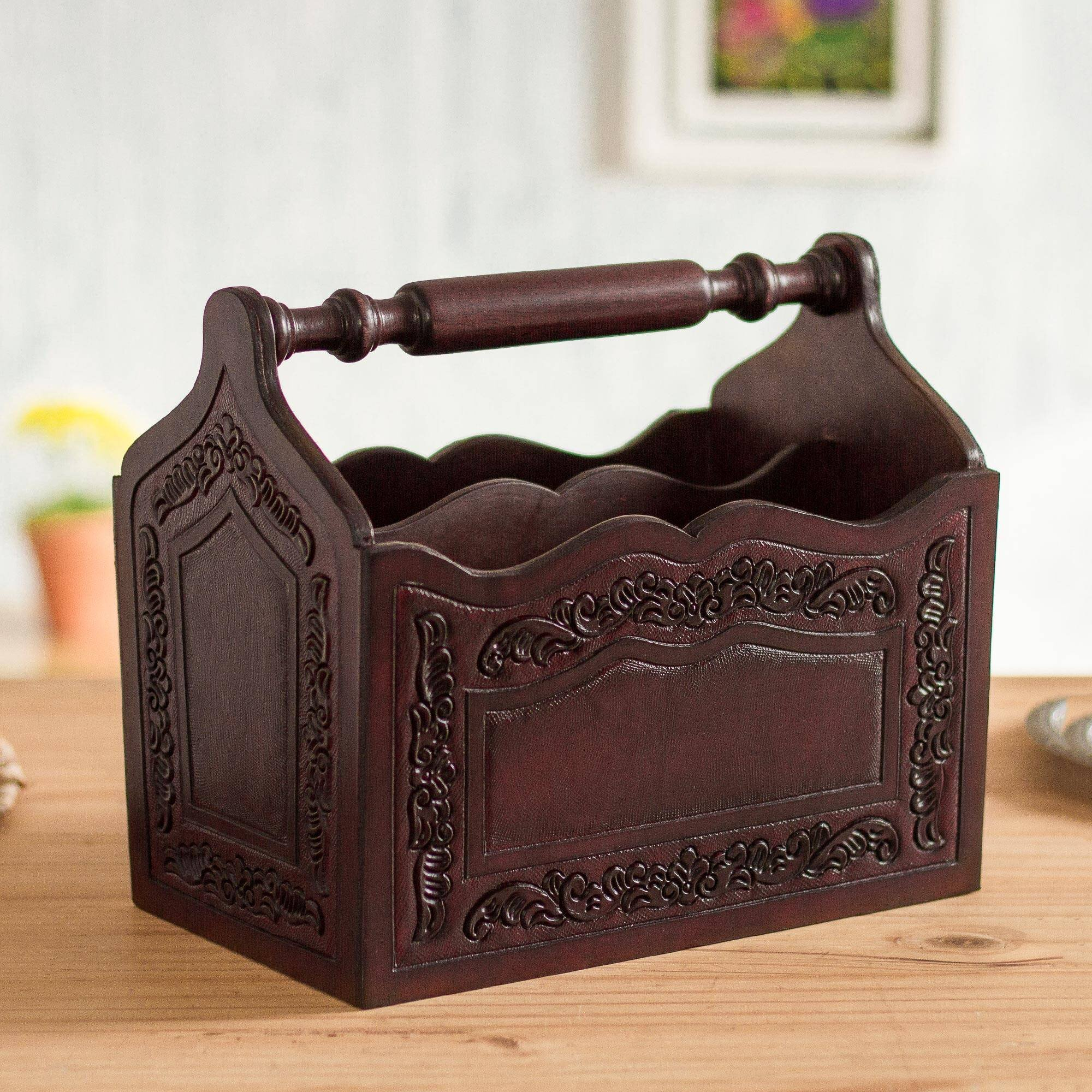 Free Standing Leather Faux Leather Magazine Racks You Ll Love In 2021 Wayfair