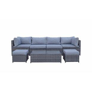 Fleishman 6 Seater Rattan Corner Sofa Set Image