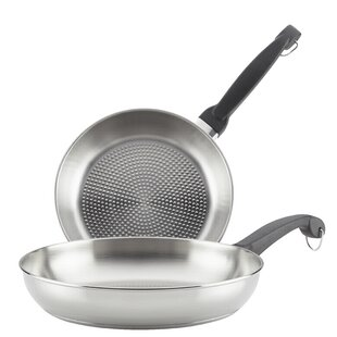 Classic Traditions ProSear Stainless Steel 2 Piece Skillet Set