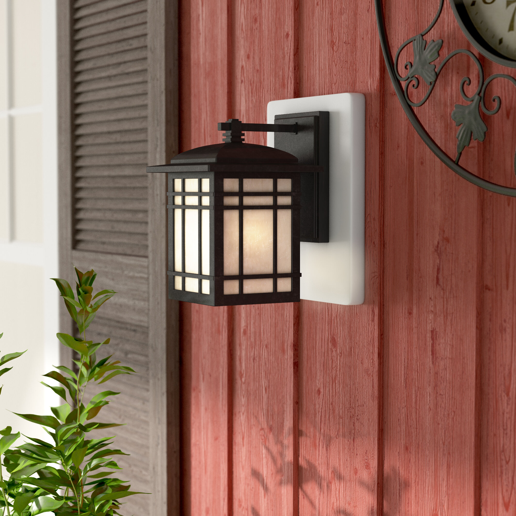 Wer Rustic Outdoor Wall Lantern