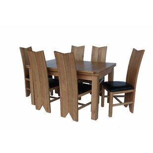 Baxley 7 Piece Solid Wood Dining Set Foundry Select