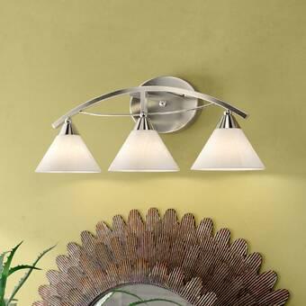 Everly Quinn Nelsen 4 Light Dimmable Satin Brass Vanity Light Wayfair
