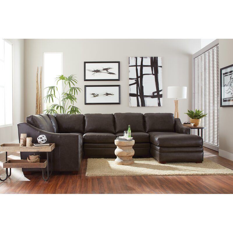 Westland And Birch Dalhart 126 Genuine Leather Right Hand Facing Reclining Sectional Wayfair