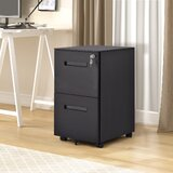 Marigny 3-Drawer Mobile Vertical Filing Cabinet by Latitude Run