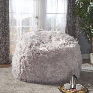 Furry Bean Bag Chair by Greyleigh