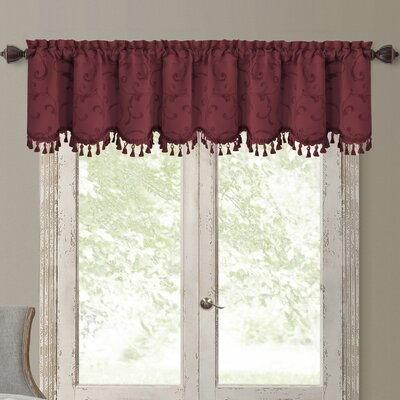 Mia Curtain Valance Color: Rouge