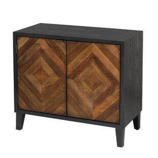 Mererid Inlay 2 Door Accent Cabinet