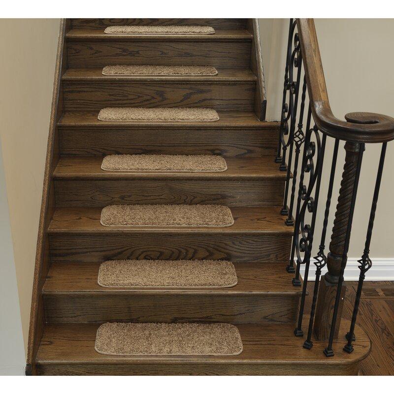 Delightful Soft Solid Non Slip Shag Carpet Camel Stair Tread