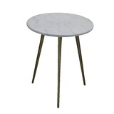 Marble Top 3 Legs End Table by George Oliver