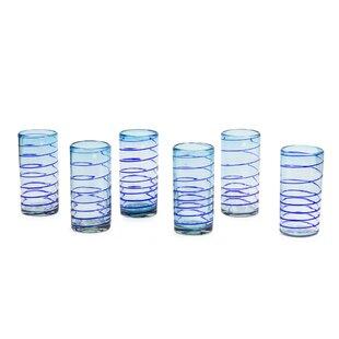 Esopus Spiral Blown Water/Juice Glass (Set of 6)