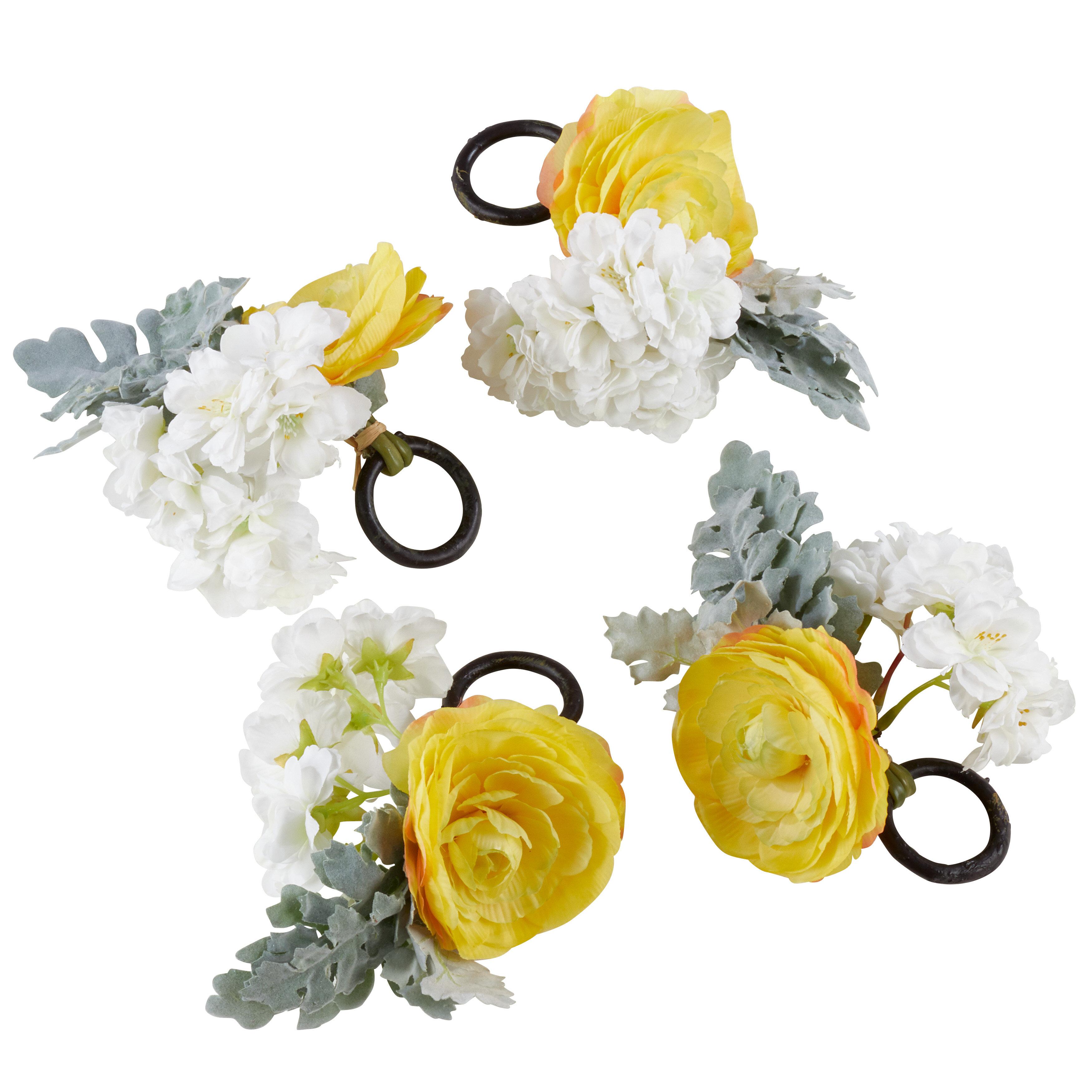 Saro Ranunculus Table Napkin Ring Wayfair